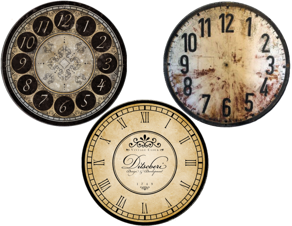 New Years free clock face printables (cd size and plate) |