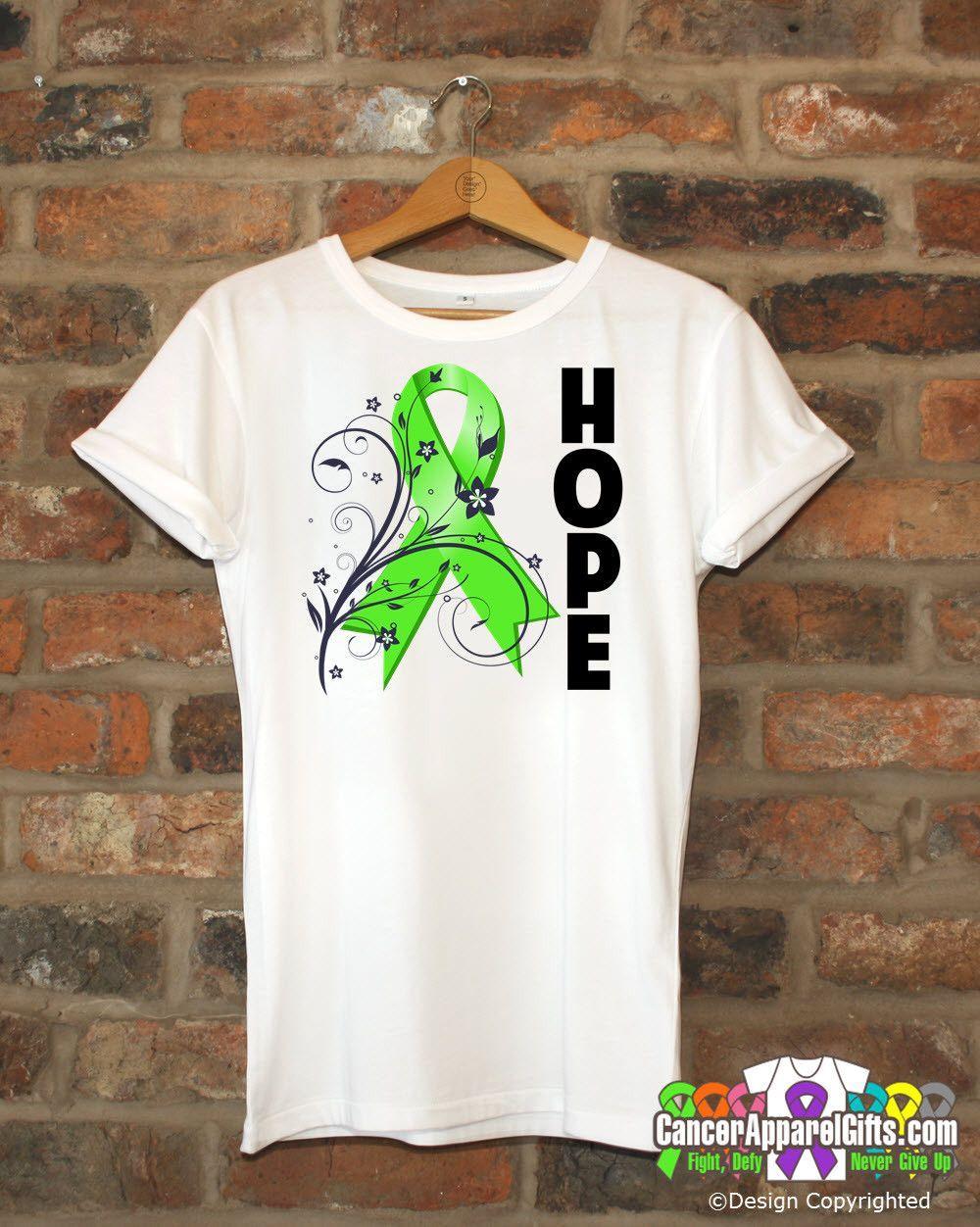 Non-Hodgkin's Lymphoma Floral Hope Ribbon T-Shirt
