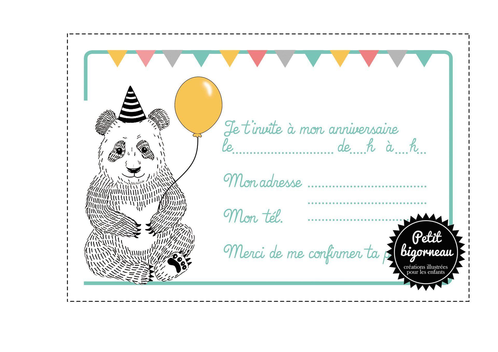 Carte Invitation Anniversaire Invitation Carte Anniversaire