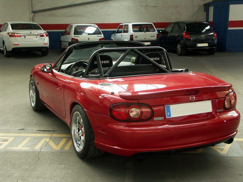 Velocity Red NB Mazdaspeed Miata with 15x9 6UL wheels | Beau