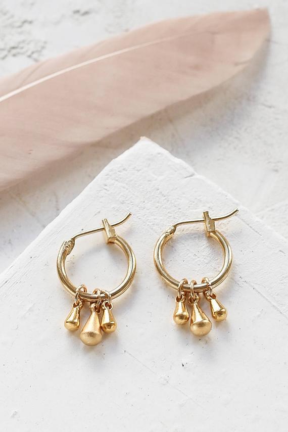 bfcc84738 Anka Earrings, Bohemian Earrings, Boho Hoops, Boho Hoop Earrings, Gypsy  Earrings, Ethnic Earrings, G