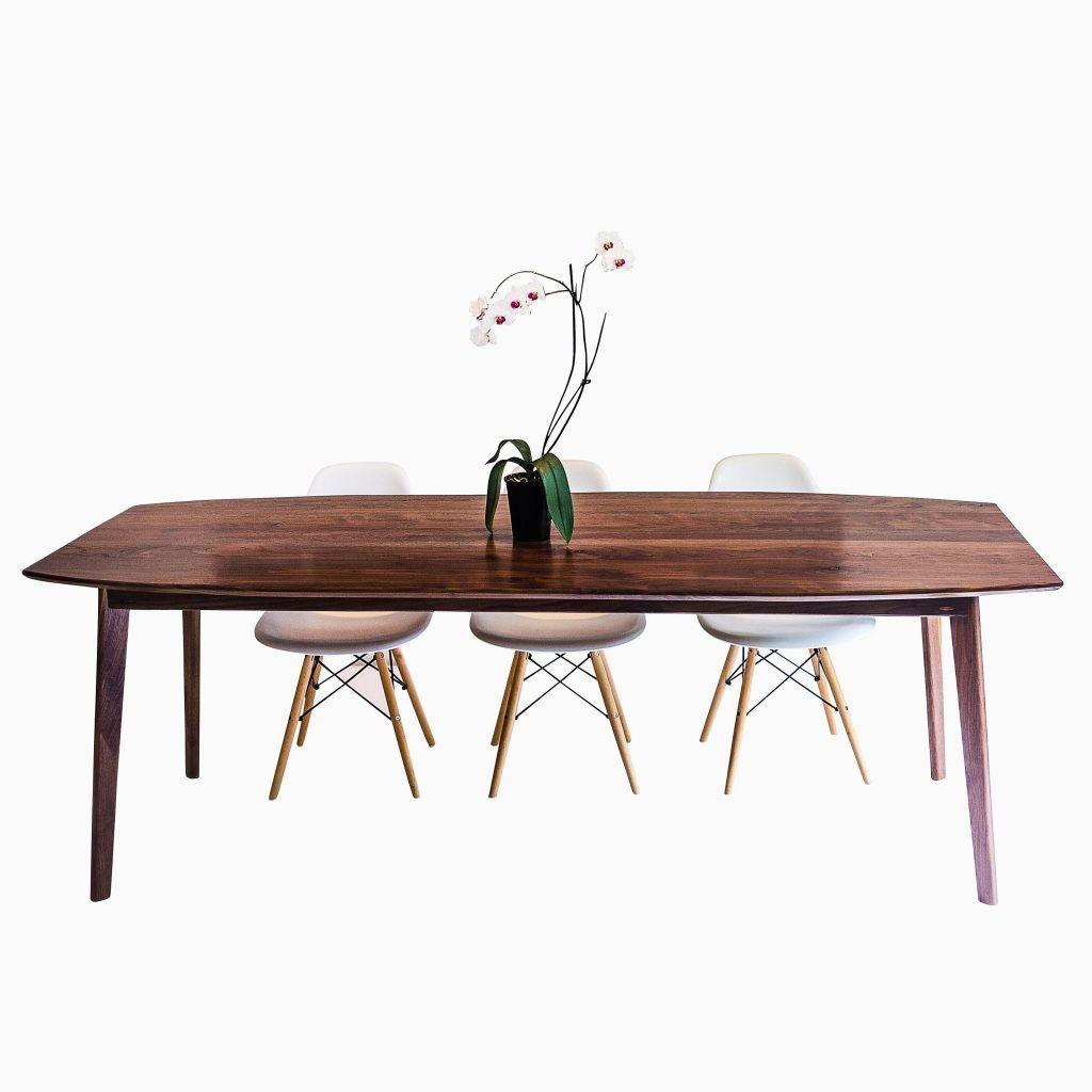 Mid Century Dining Table A Custom The Santa Monica Solid Black Walnut