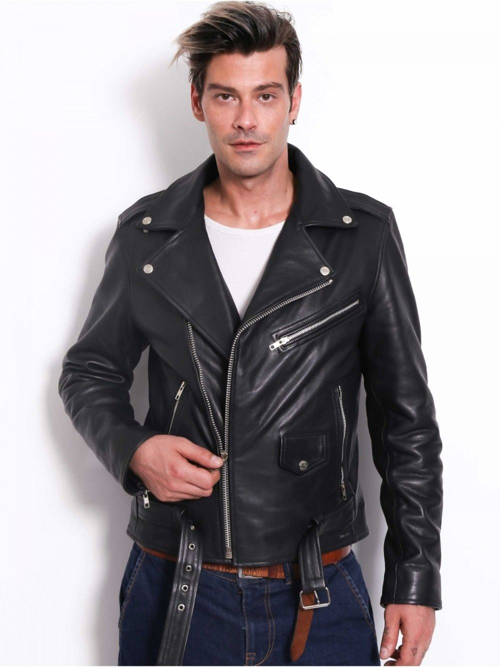 Vainas Brando Mens High Quality Leather Jacket For Men Winter Real Leather Jacket Motorcycle Jackets Bike Jackets With Images High Quality Leather Jacket Real Leather Jacket Leather Jacket