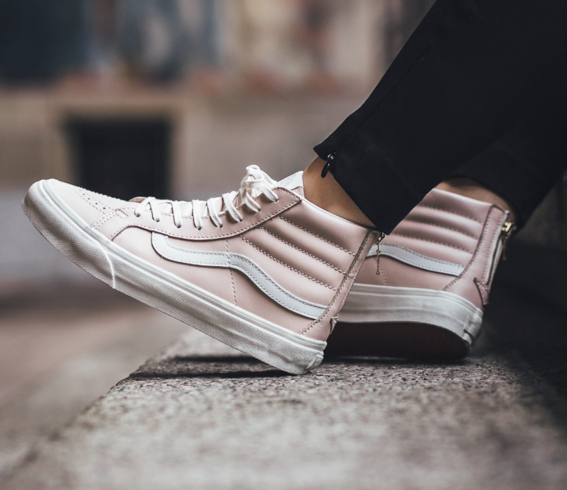 a72941f671 The Hue    Whispering Pink Vans Sk8-Hi Slim Zip High-Top Sneakers ...