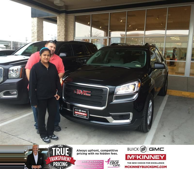 Congratulations To Martin Pietrzak On Your Gmc Acadia Purchase