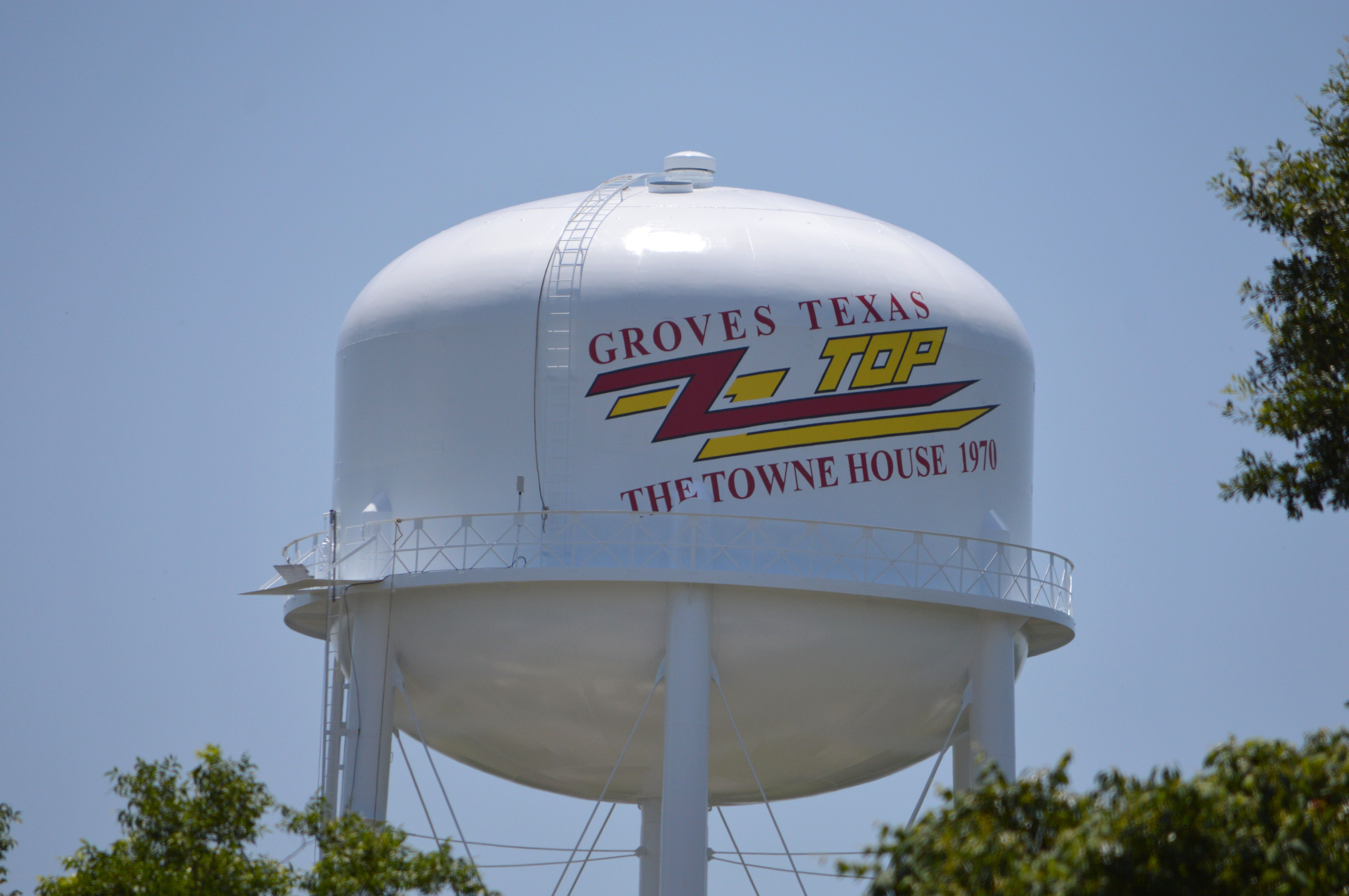 Where Is Zz Top Water Tower Visitportarthurtx And Visit Our Neighbor Groves Texas Mary Meaux Photo For Port Arth Port Arthur Water Tower Port Arthur Texas