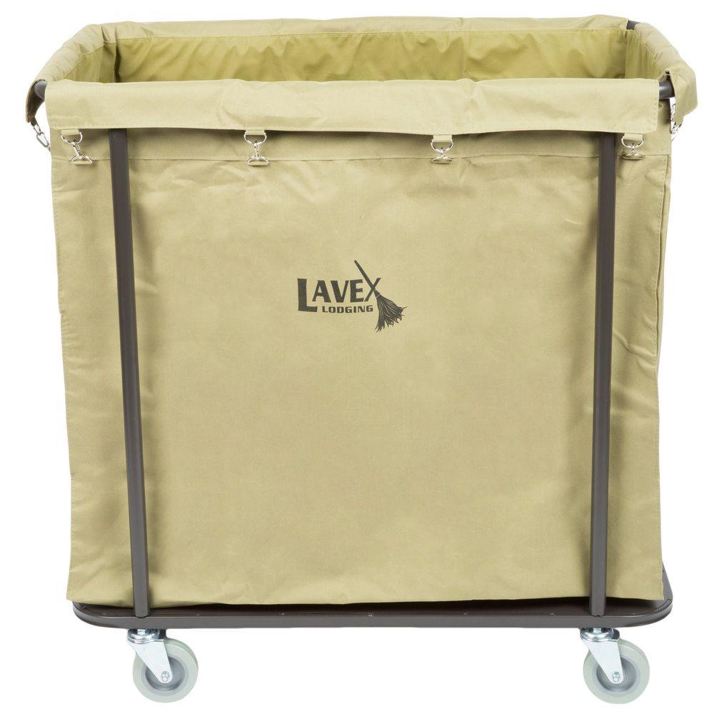 Lavex Lodging Commercial Laundry Cart Trash Cart 14 Bushel Metal