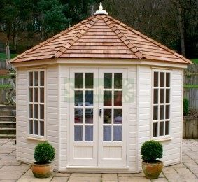 Octagonal Summerhouse 411 Painted Double Glazed Insulated