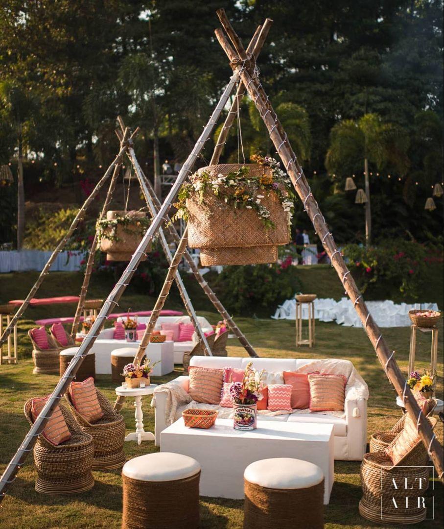 Beautiful Pastel Setup For A Wedding Brunch