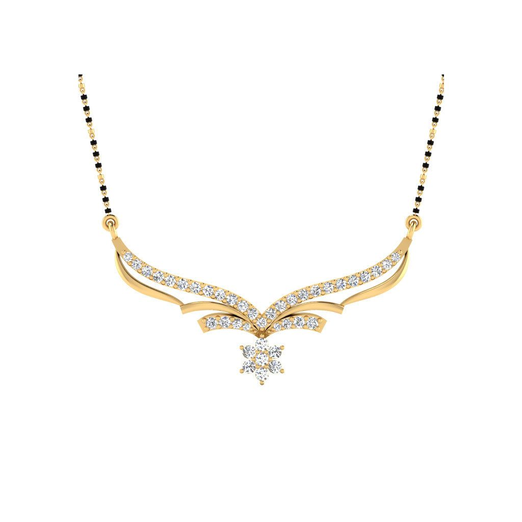 ct diamond kkt gold mangalsutra diamond pendants diamond