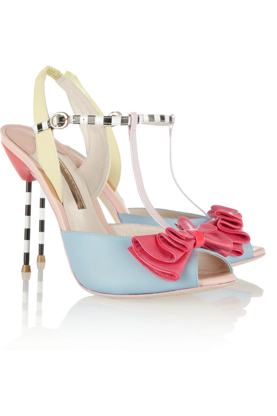 Sophia Webster   Vivi patent-trimmed leather sandals   50% off at net-a-porter! I would do unspeakable things for these!!!
