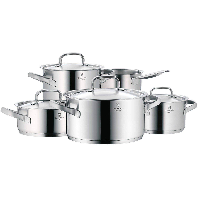 WMF Gourmet Plus 5-teilig Topf-Set, Edelstahl Rostfrei, mattiert: Amazon.de: Küche & Haushalt