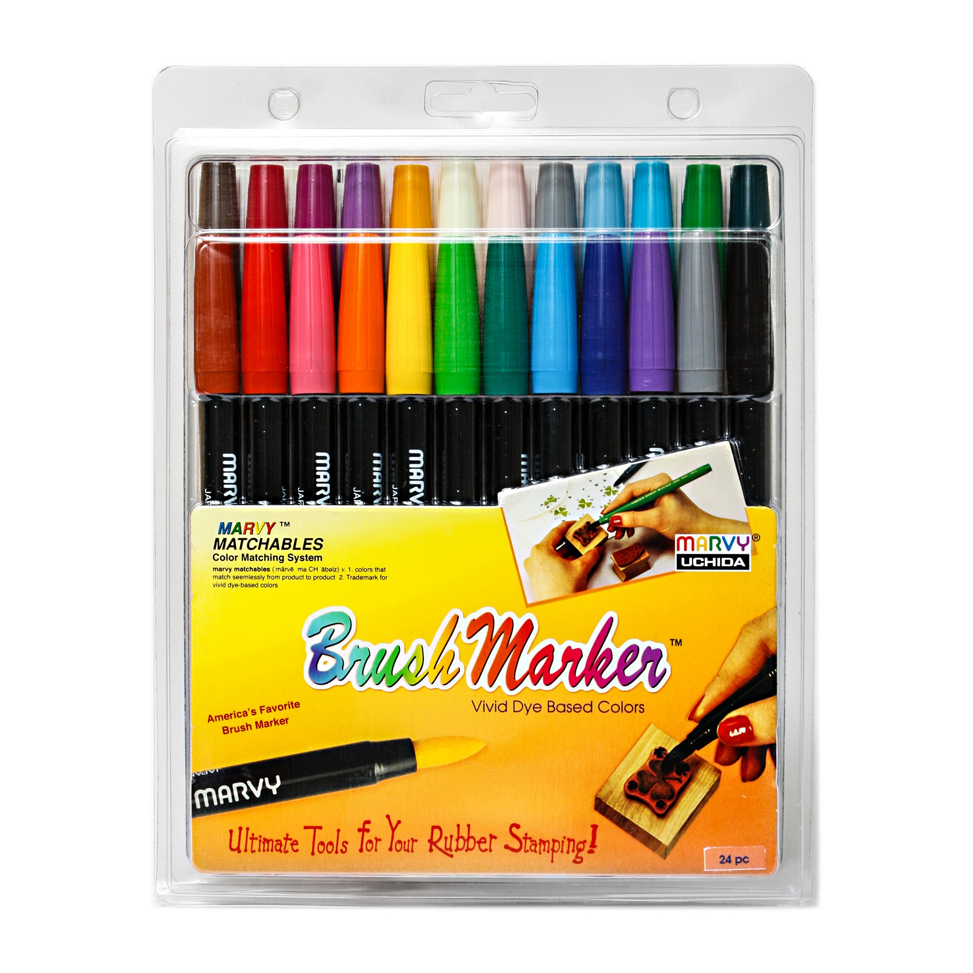 Brush Markers Multicolor 24ct Marvy Uchida Markers Brush