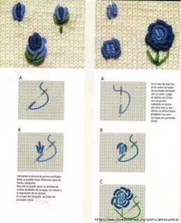 Вышивка цветов рококо схемы