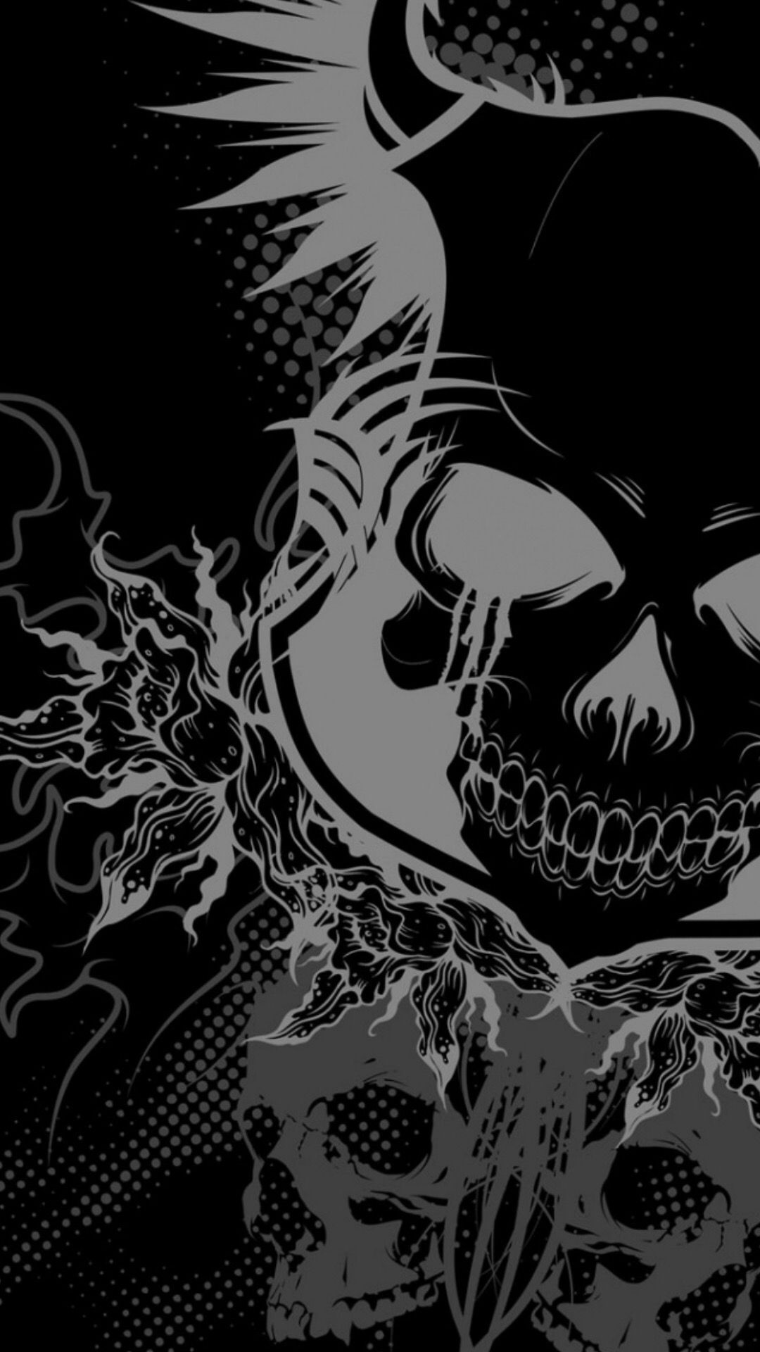 Pin by Travis on skulls Graffiti, Skull wallpaper