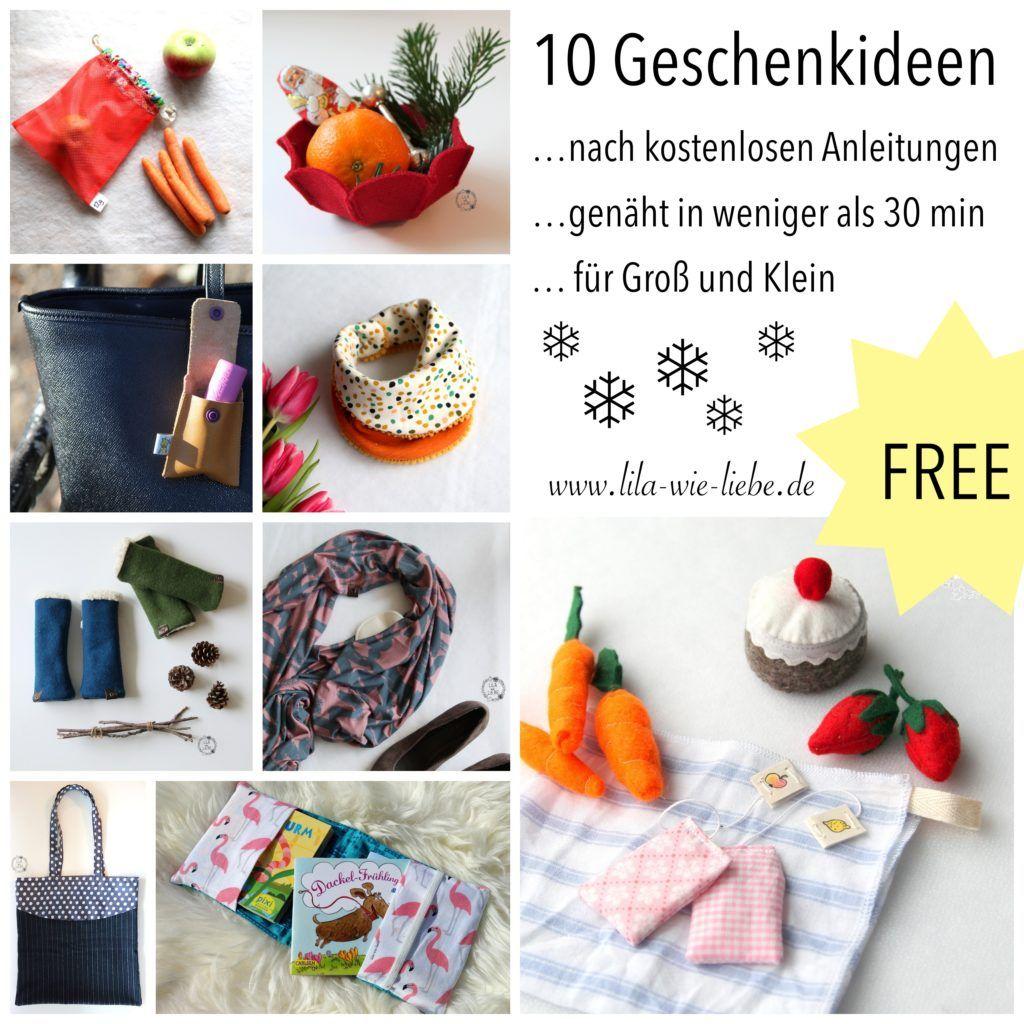 weihnachtsgeschenke nähen  10 tipps für kostenlose