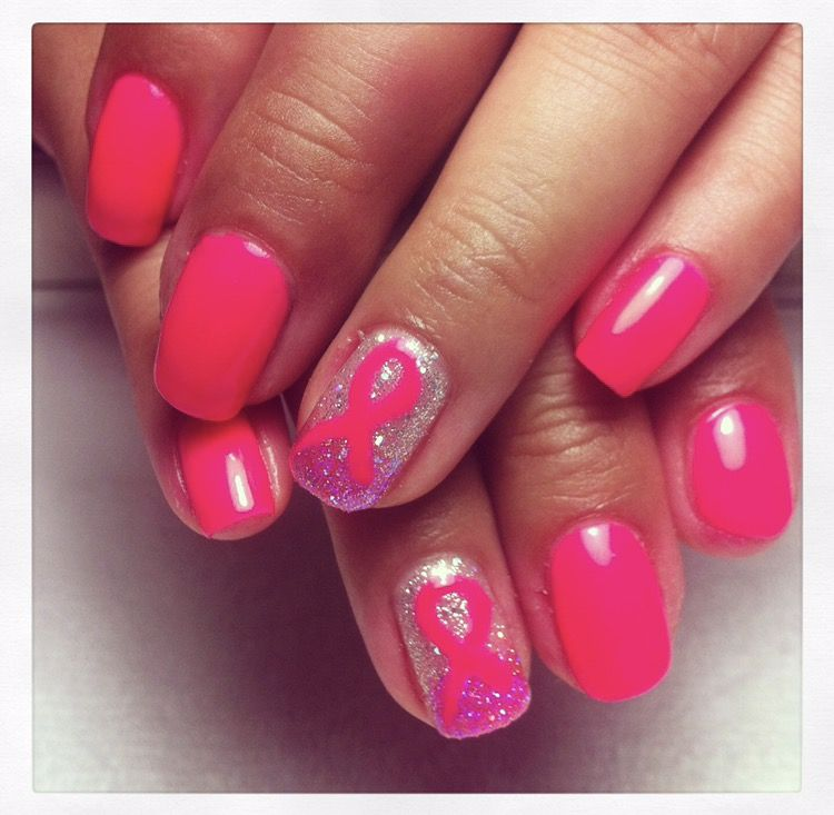 Oktober Nägel Brustkrebs Awareness Nägel Pink Ribbon Gel Polish -Immer Gelis …   – nails