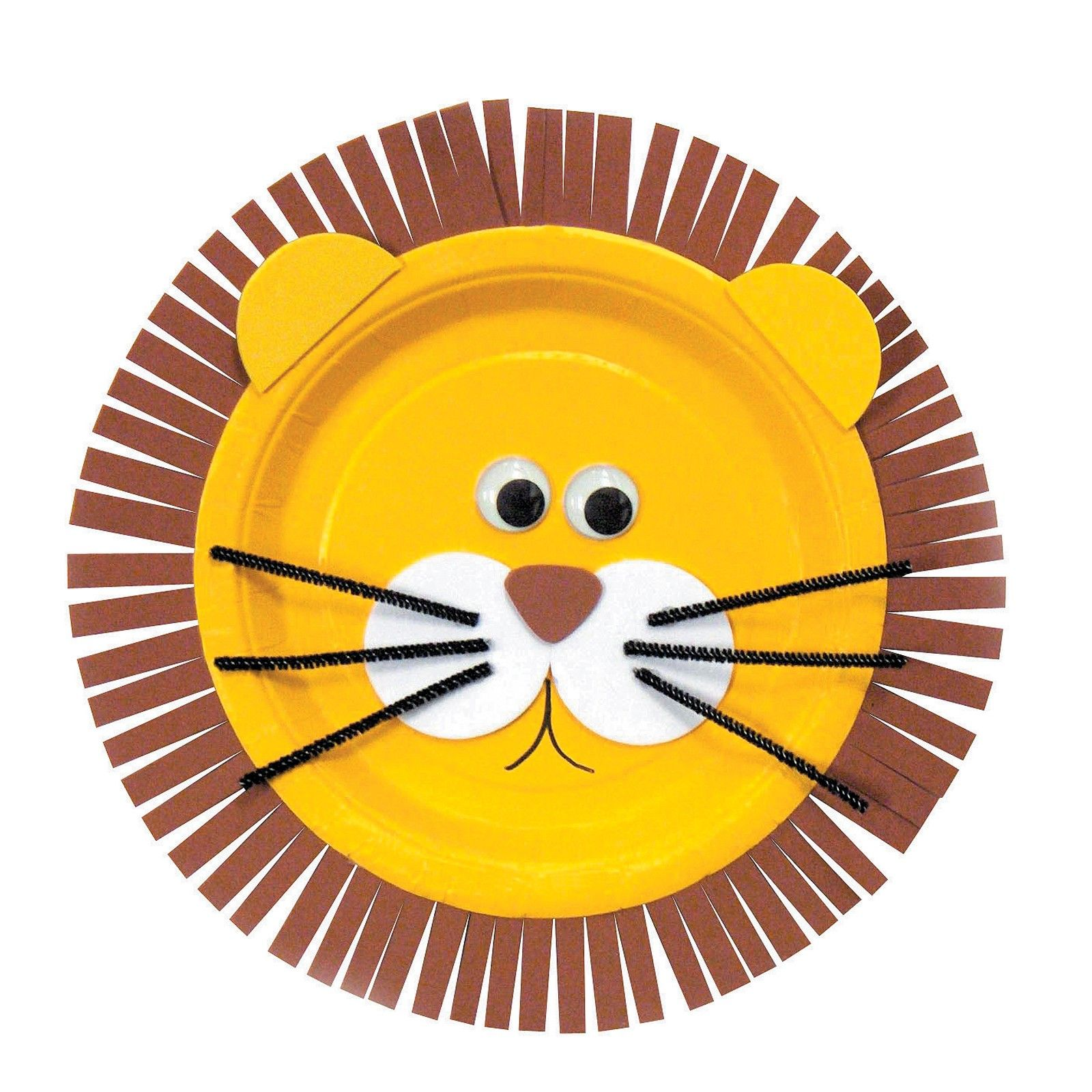Make My Own Kit Brown Paper Dinner Plate One Yellow