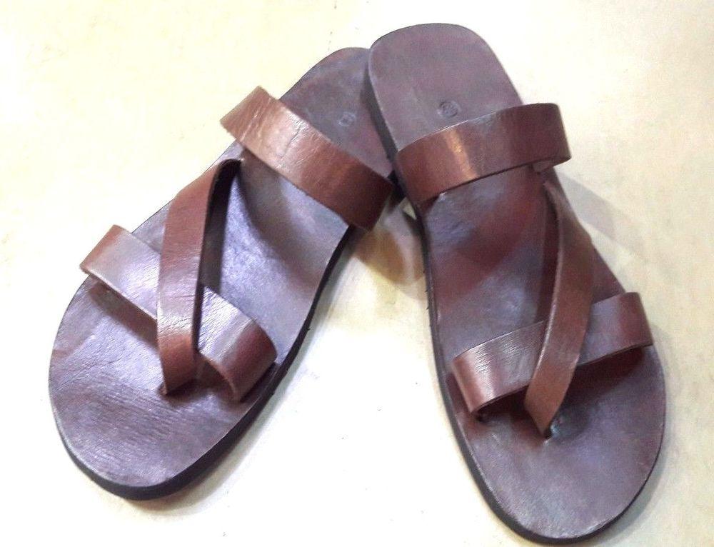 0c1ca5bef6c7d4 Handmade Casual Sandals Thick solid Leather Men Shoes Boho Unisex Flip  Multi-US  unbrand  FlipFlops