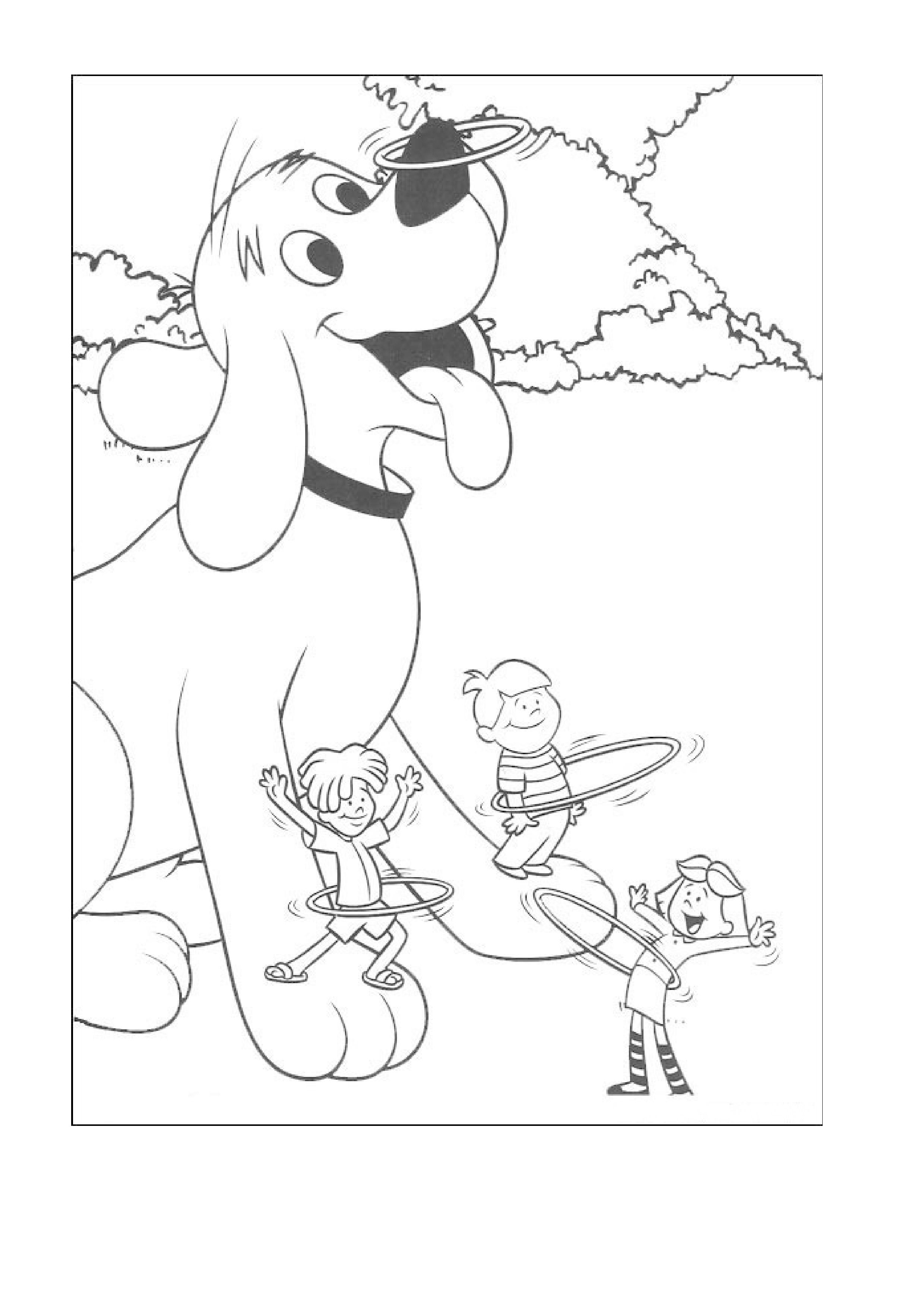 Clifford Coloring Page Website Has More Coloring Pages