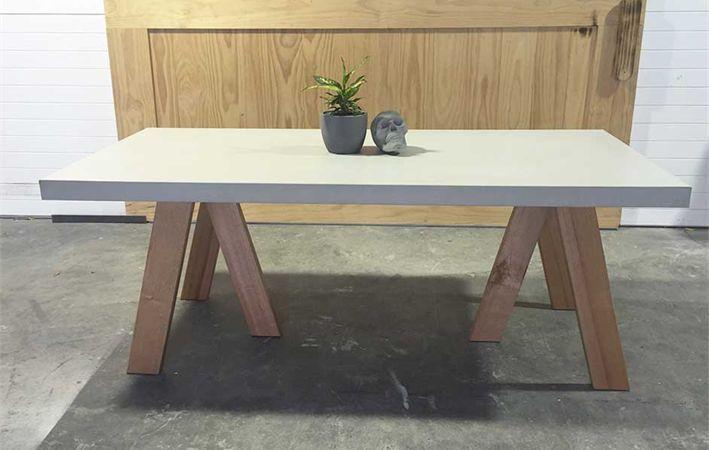 Makers Lane Concrete Tripod Dining Table Custom Made