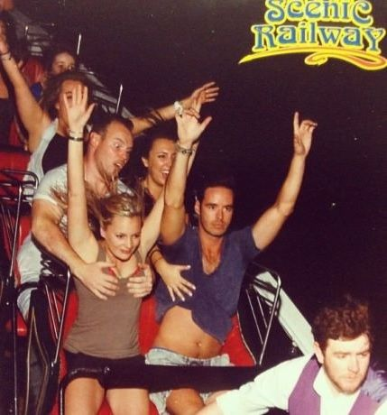 He asked to sit behind his wife on the rollercoaster...  #lol #funny #humor #haha #boobs