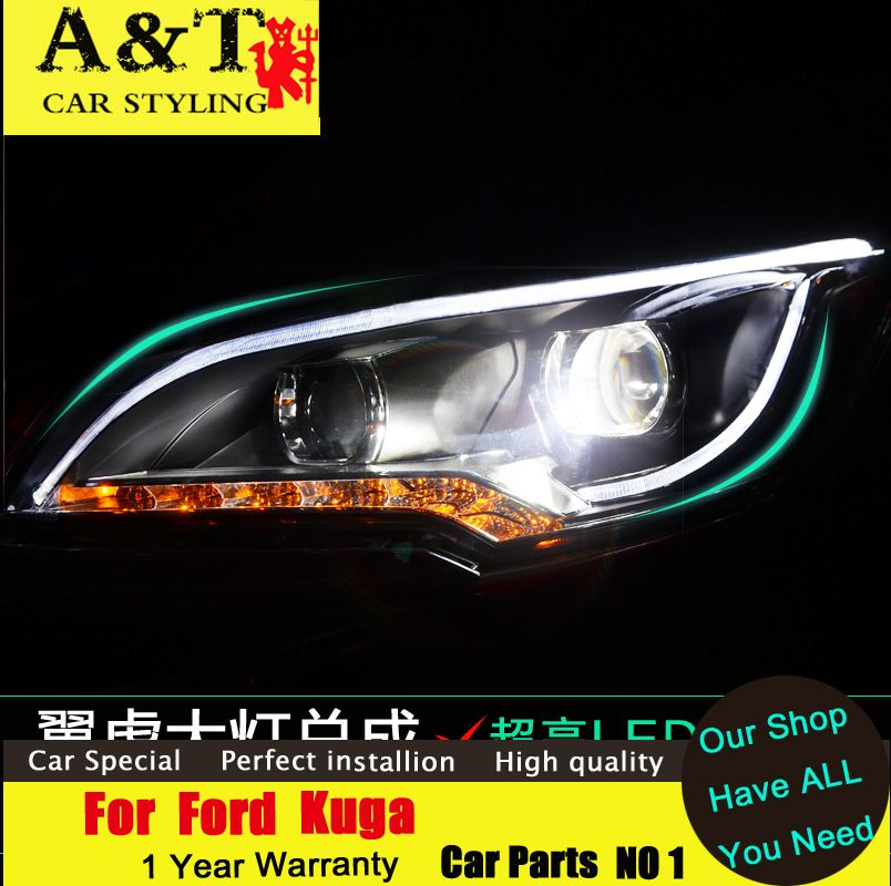 A T Car Styling For Ford Kuga Escape Xenon Headlights 2013 2015