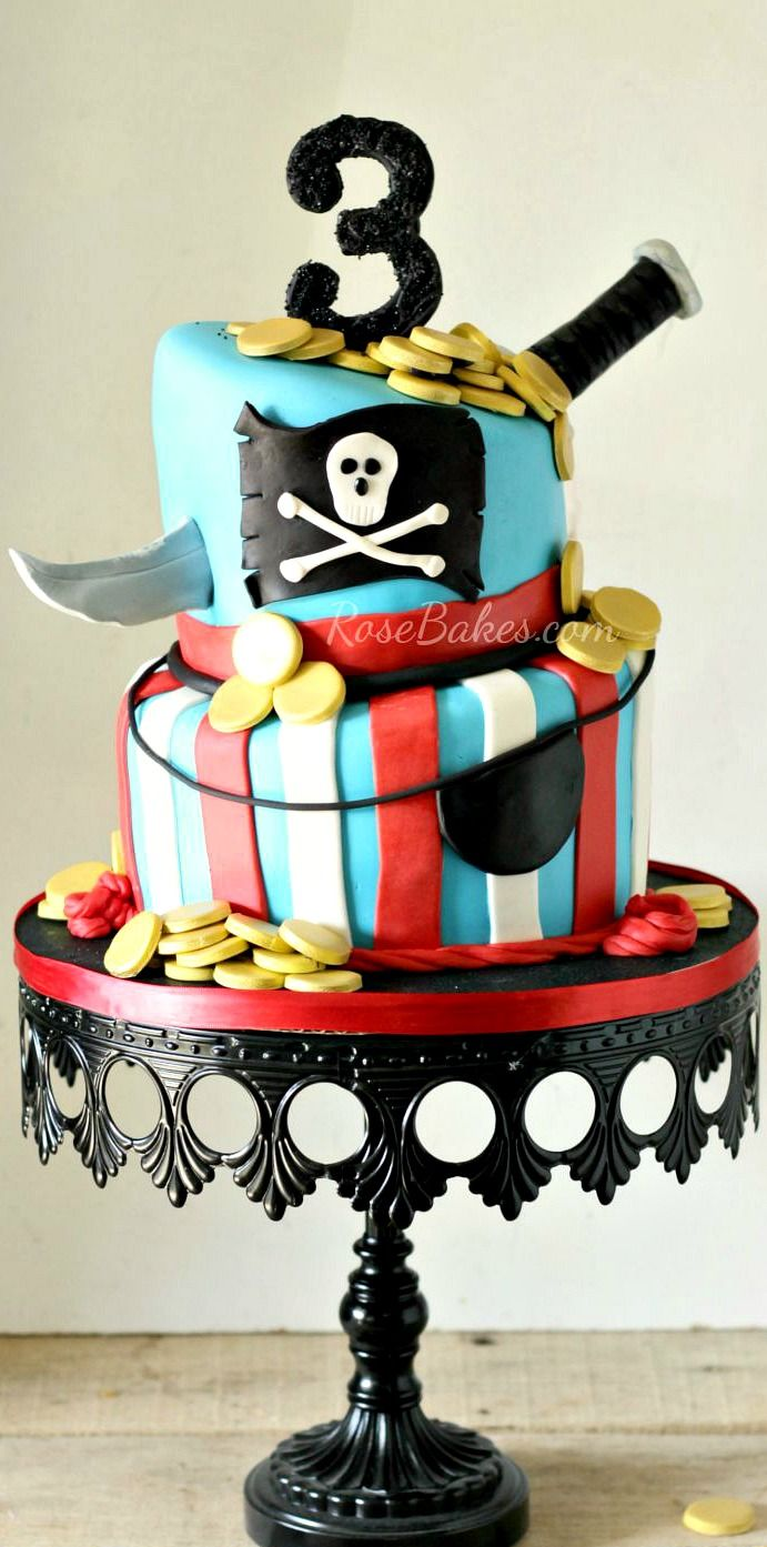 Pirate Cake Bright Roses Cake Super Heroes Cupcakes And The More