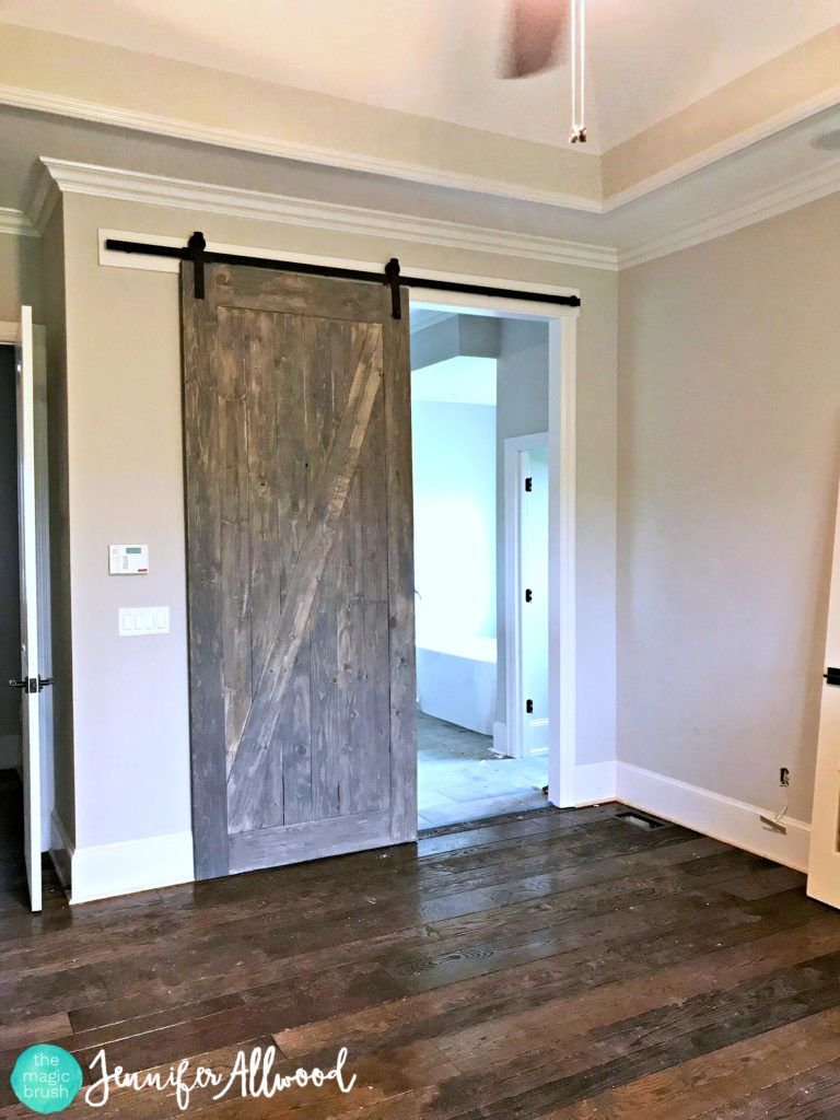 How To Stain Barn Doors To Look Like Authentic Barn Wood Diy Barn Door Interior Barn Doors Diy Barn Door