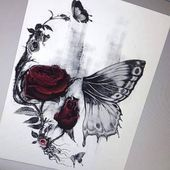 Photo of Half Butterfly Tattoos #butterfly #tattoos; Half butterfly tattoo …