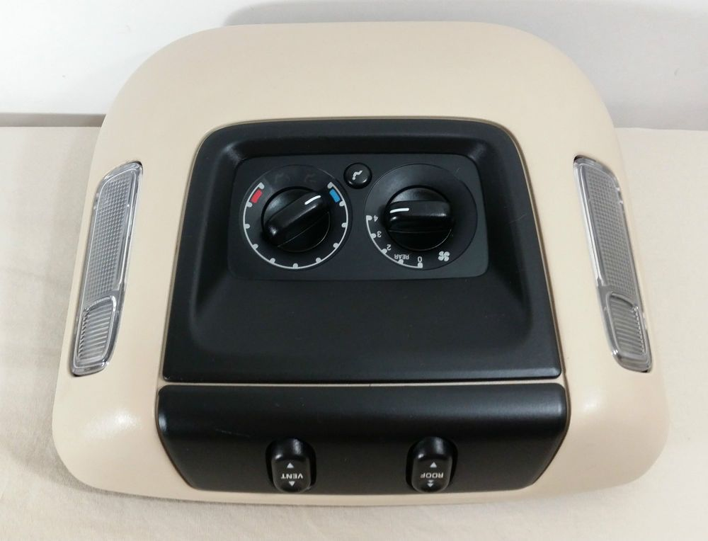03 06 Ford Expedition Oem Overhead Console Rear Climate Sunroof Controls 8006 Ford Expedition Ford Oem