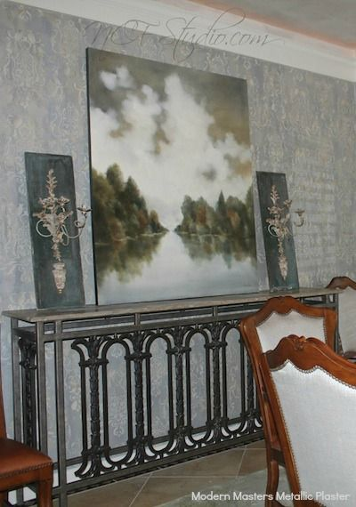 Modern Masters Metallic Plaster, Tinted Troweling Gel and Glazes | By NCF Studio of Decorative Art | Modern Masters Cafe blog