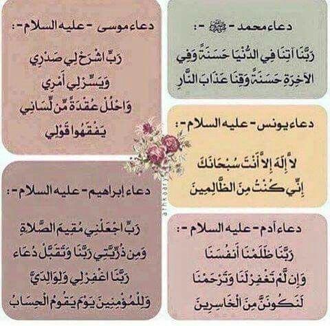 دعاء الانبياء عليهم السلام ادعية Islam Facts Learn Quran Islamic Love Quotes