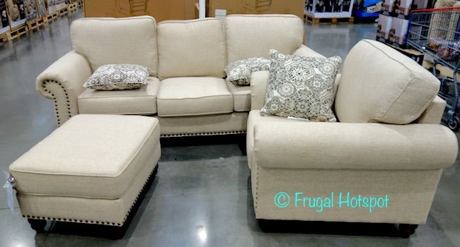 Costco Synergy Home Fabric Sofa Chair Ottoman Set 899 99 Frugal Hotspot