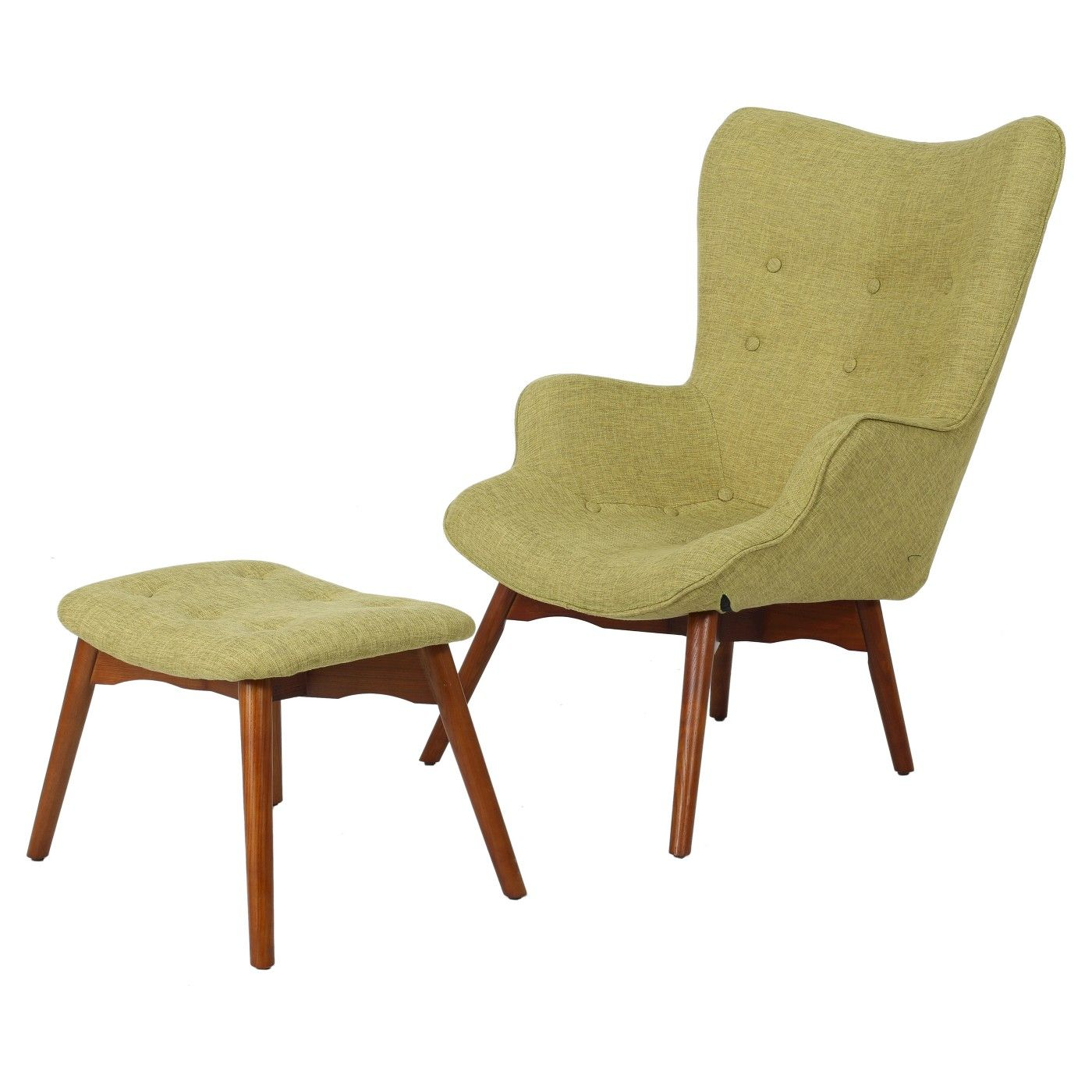 Hariata Fabric Contour Chair with Ottoman Set - Christopher ...