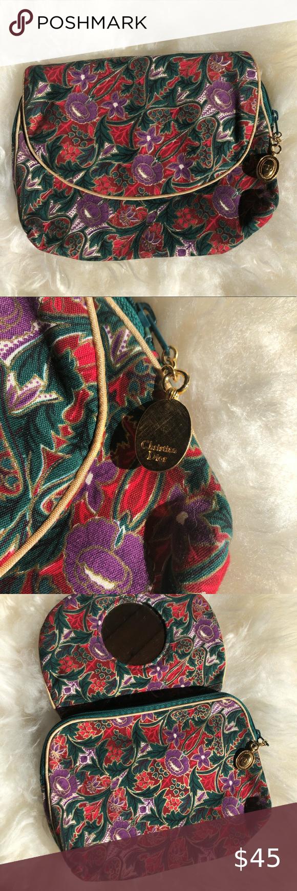 Christian Dior Vintage Cosmetic Bag Vintage cosmetic