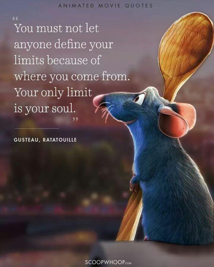 Aww. wunderschönen! #ratatouille #disney #quote #disneyquote #inspirational - Jim Mead #disneymovies