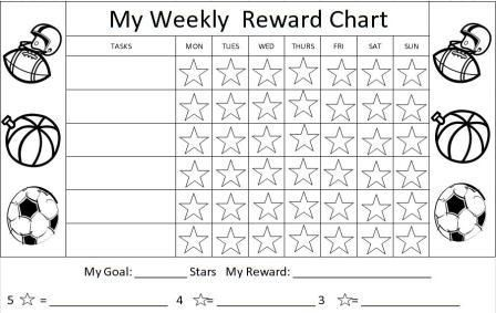 Printable reward charts, sticker charts, kids charts, charts for - child reward chart template
