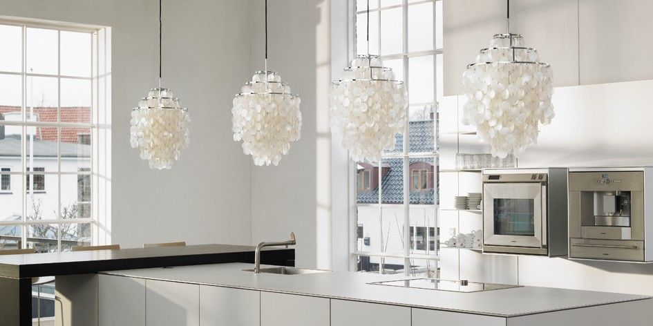 Verpan mother of pearl fun 1dm pendant lighting contemporary lighting