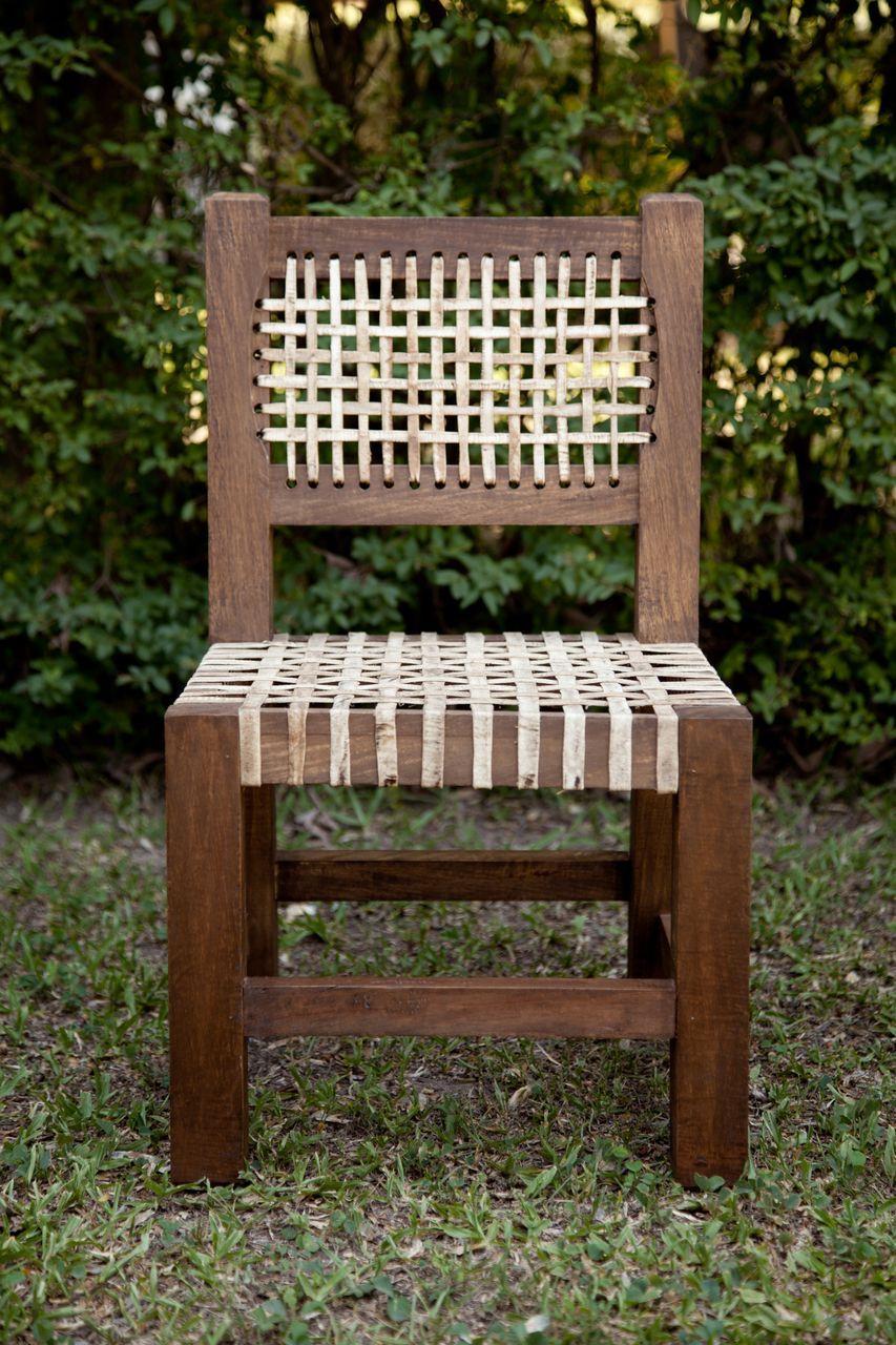Sillita matera madera y cuero muebles de campo for Muebles para casa de campo