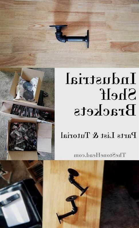 Photo of Industrial Shelf Brackets for Plumbing Pipe Shelves