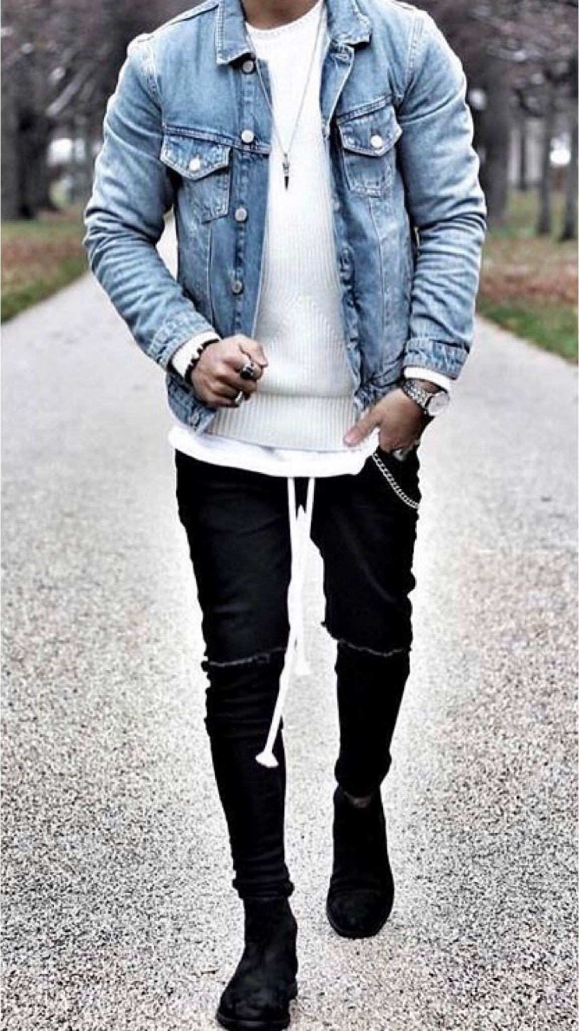 23 Jeans jacket outfits you'll love! | Denim outfit men