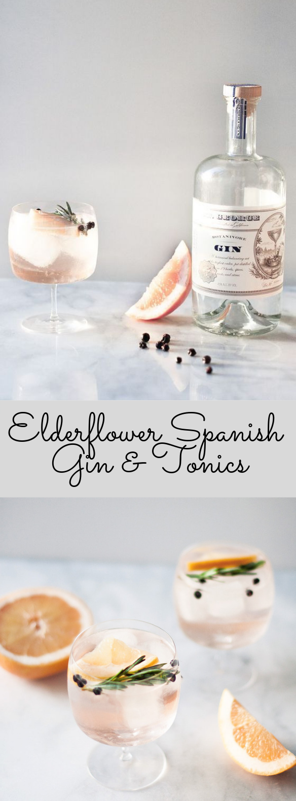 Elderflower Spanish Gin & Tonics #Cocktail #ValentinDay #bestgincocktails