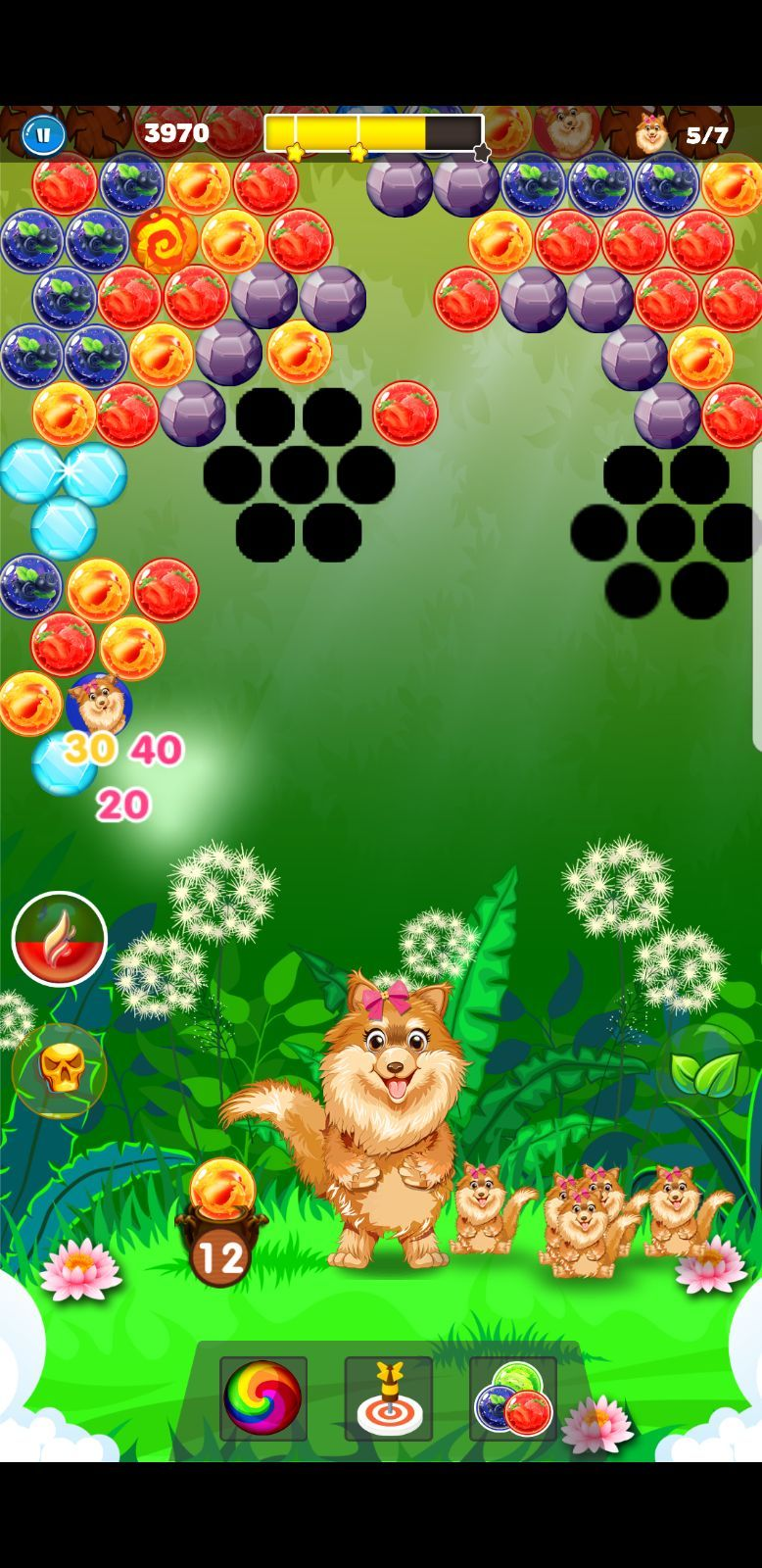 Shoot Doggy bubbles with same colors combinations