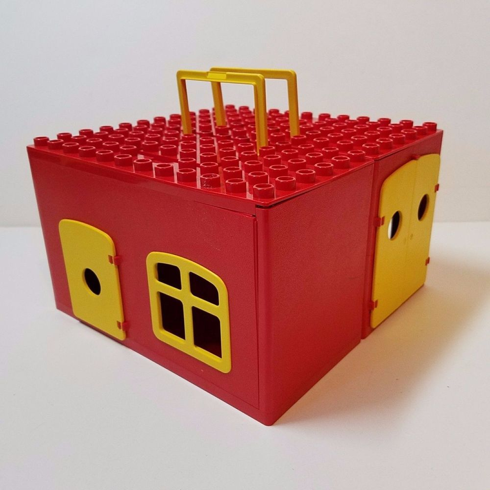 Vintage 1979 Lego Duplo Brick House Building Carry Case Travel