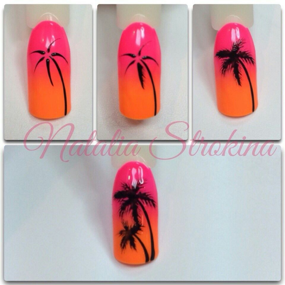 Pin By T Annz Unique On мк ногти Palm Tree Nails Tree Nails Palm Tree Nail Art