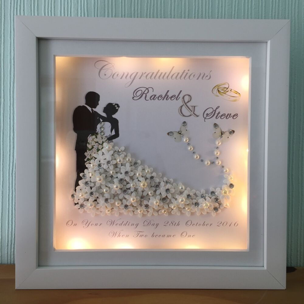 Details about BRIDE AND GROOM WEDDING/ANNIVERSARY