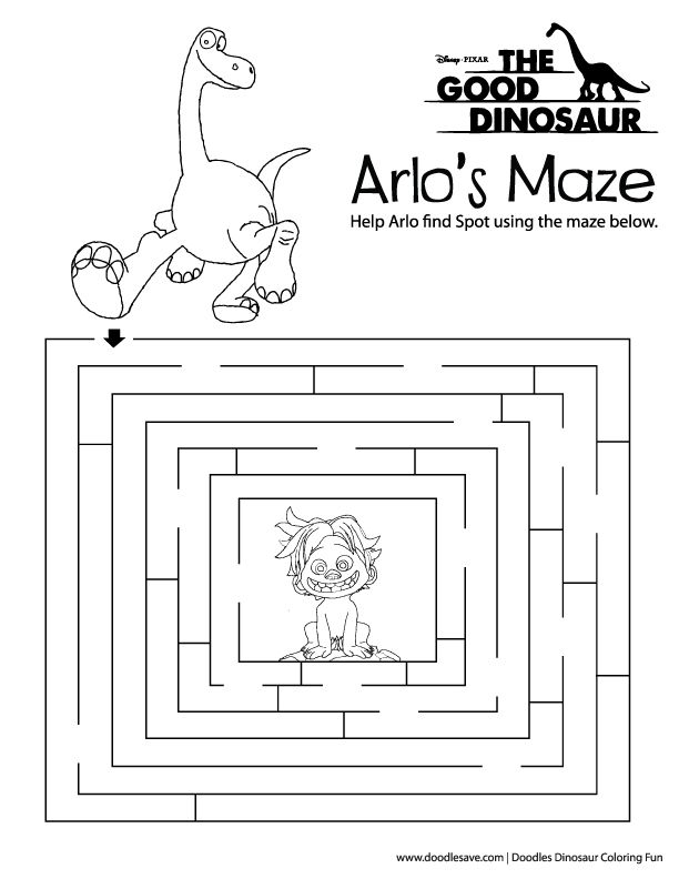 The Good Dinosaur coloring pages free activity download Disney