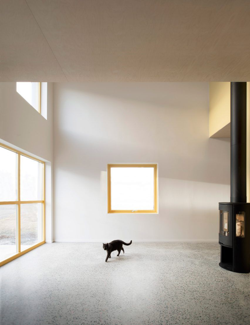 House wooden window design  grey prefab stockholm house features colourful walls and yellow