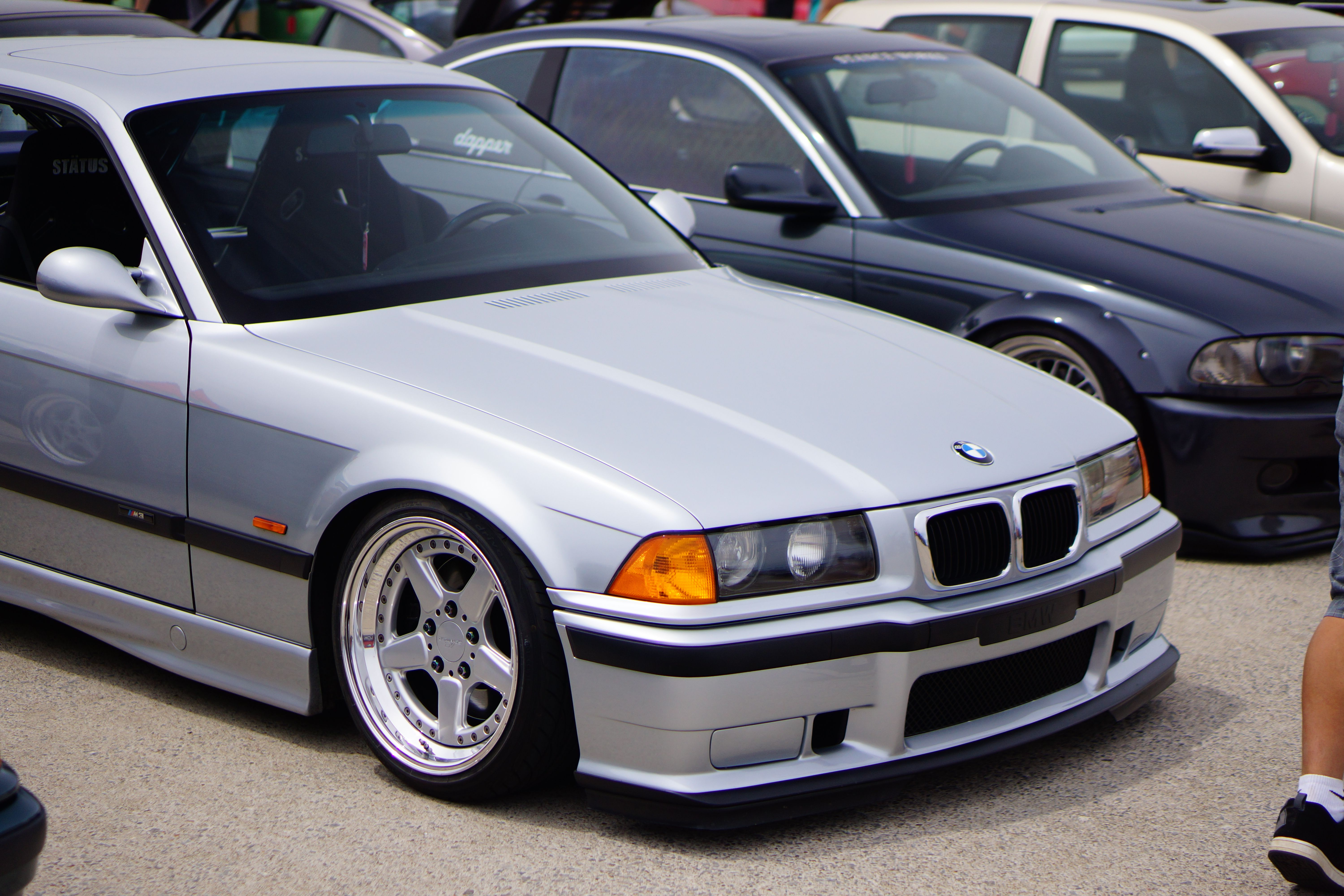Silver Bmw E36 Coupe On Rare Ronal Ac Schnitzer Type 2 Racing